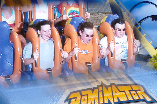 Riding the Dominator at Kings Dominion - 2008