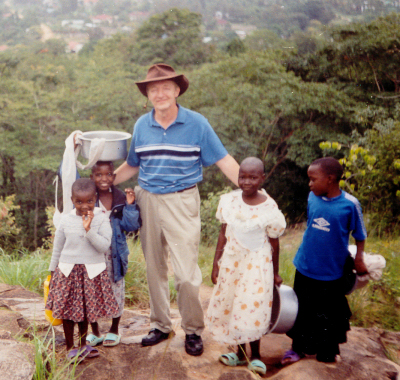 John Paul and some local children
